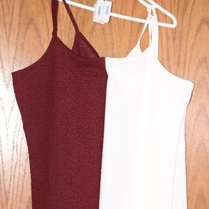 Matching Maroon and White Cammies